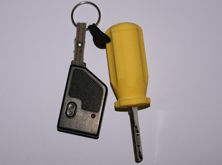 Carisma Screwdriver Key 3d printed The handle has a hole for a string so that it can be attached to a key ring