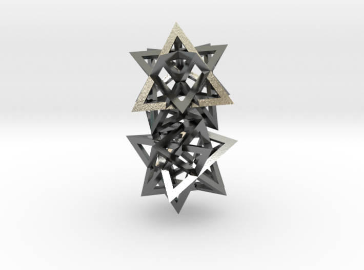 Tetrahedron 4 compound earring pair 3d printed