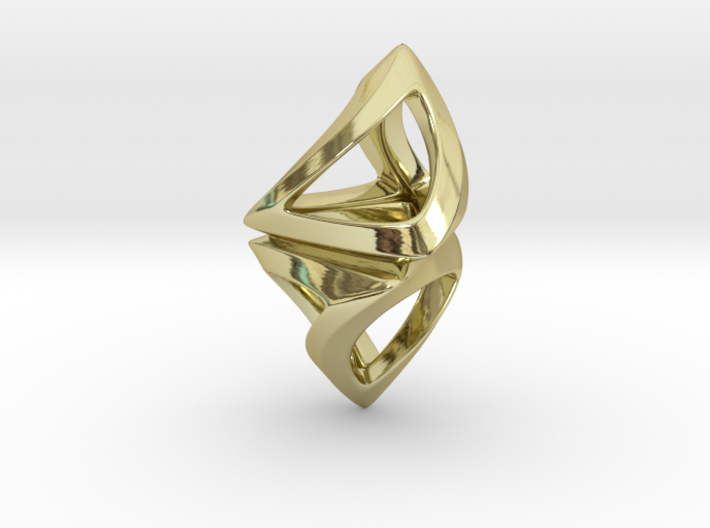 Trianon Twist, Pendant 3d printed