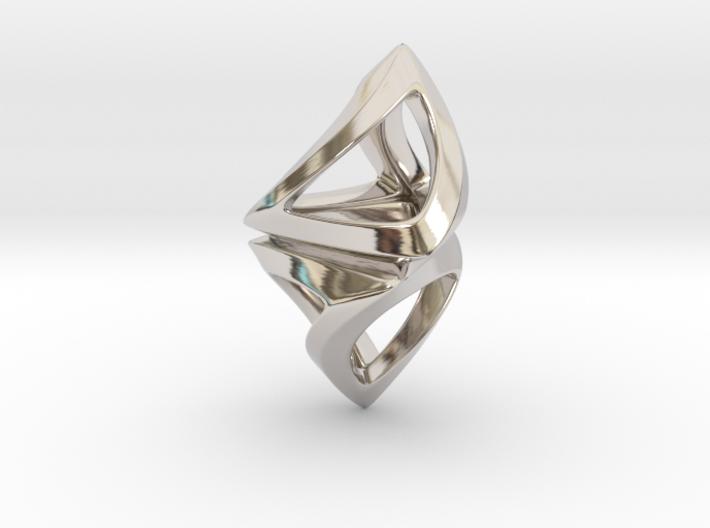 Trianon Twist, Pendant. Sharp Chic 3d printed