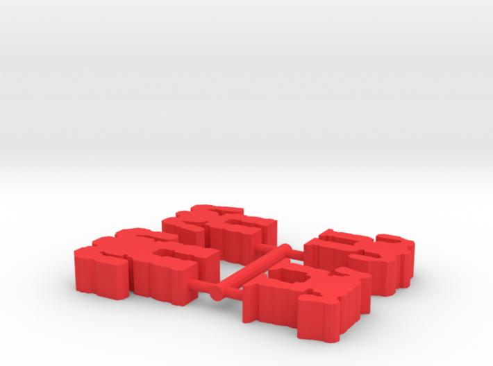 Game Piece, War Mechs 4-set 3d printed