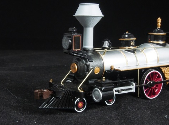 HO scale old time locomotive smokestack set 4 3d printed