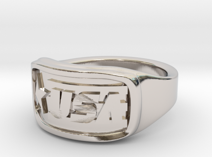 Ring USA 57mm 3d printed