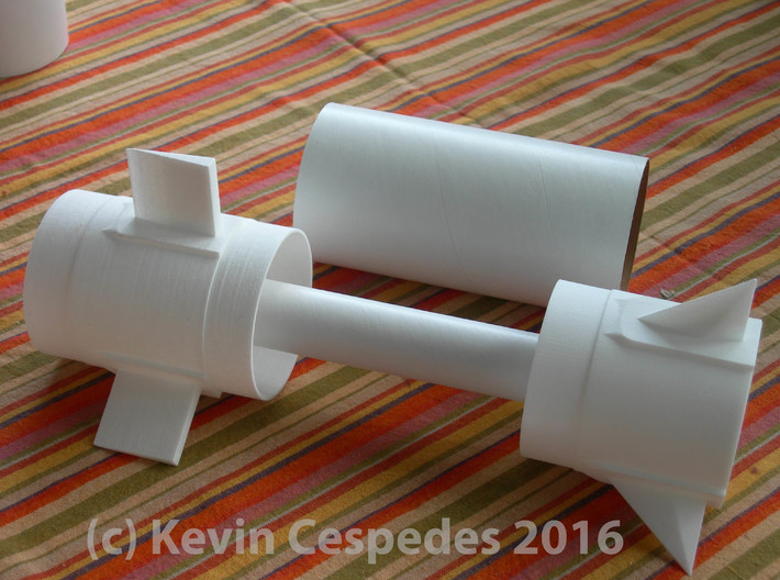 Pershing 1 BT80-1st Stage Fin Unit for 24mm motors 3d printed