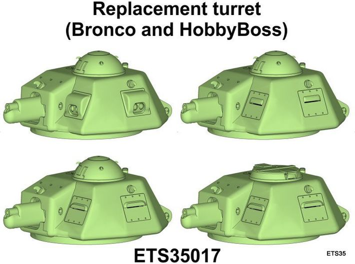 ETS35017 - APX-R turret with SA18 gun [1:35] 3d printed Versions that can be build with this set.