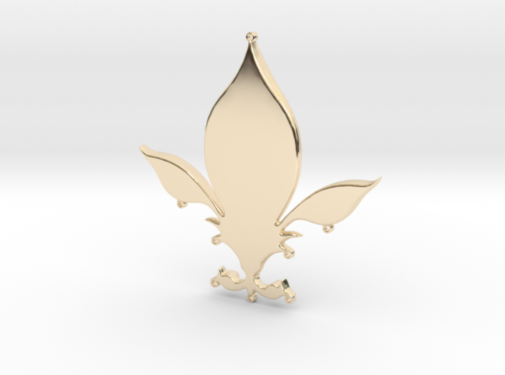 Fleur-de-lys pendant 3d printed