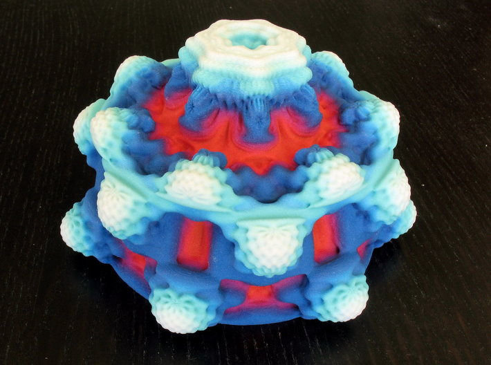 Frozen Fire Mandelbulb 3d printed Mandelbulb printed in Full-Color Sandstone