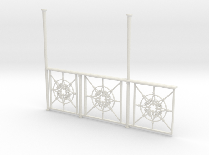 Observation Deck railing 1:20.32 scale 3d printed