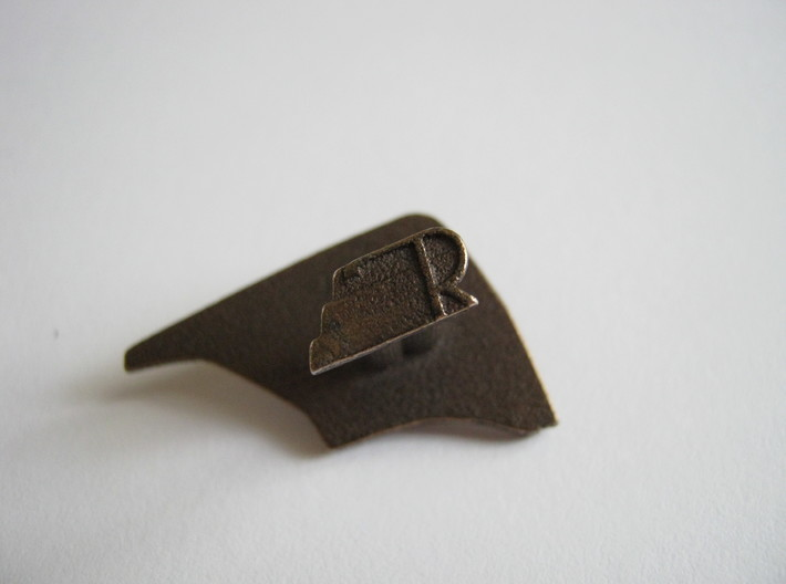 Rocketeer Cufflinks 3d printed R for Rocketeer!