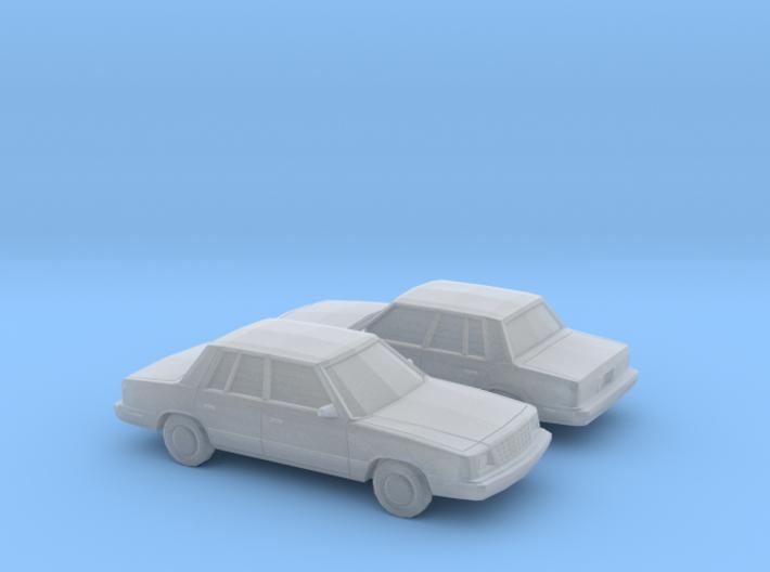 1/160 2X 1985-89 Plymouth Reliant Sedan 3d printed