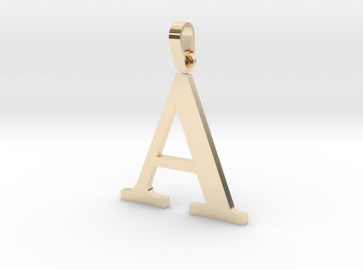 A Letter Pendant 3d printed