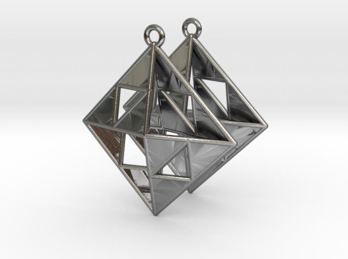OCTAHEDRON Earrings Nº1 3d printed