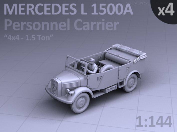 Mercedes L 1500 A - PERSONNEL CARRIER - (4 pack) 3d printed