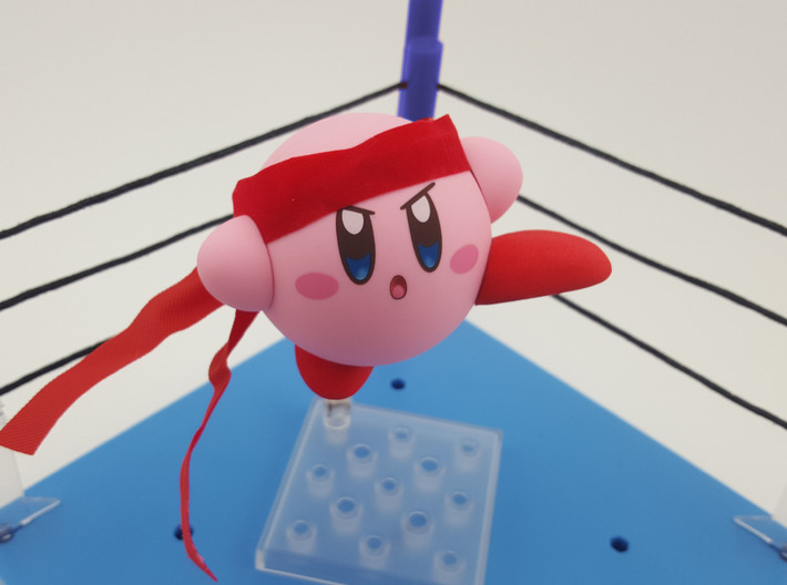 Nendoroid Kirby Extra Feet 3d printed Fighter bandana not included, but it's just a ribbon