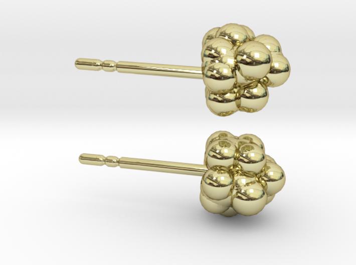 Camphor Earring Studs 3d printed