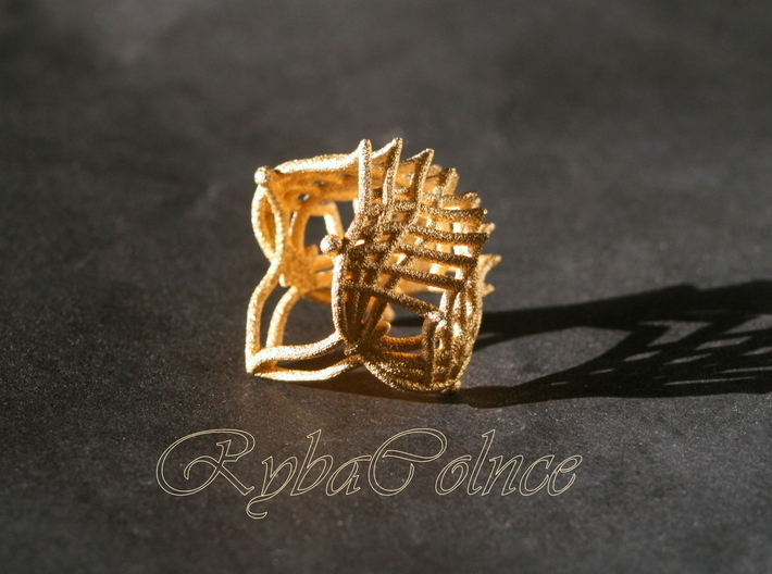 Ring The Iroquois\ knuckle / size 7US (17,4 mm) 3d printed