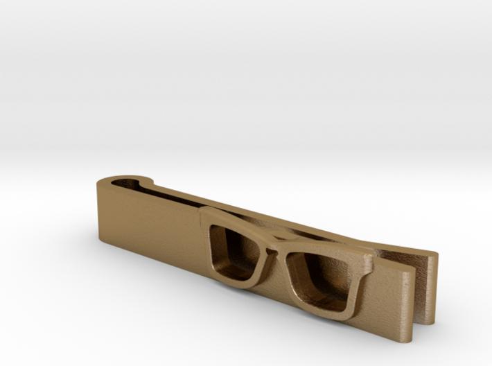 Hipster Glasses Tie-Clip Origin 3d printed