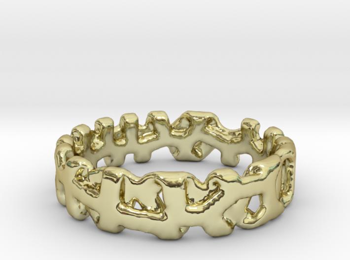 Voronoi 1 Design Ring Ø 21.3 Mm/0.839 inch 3d printed