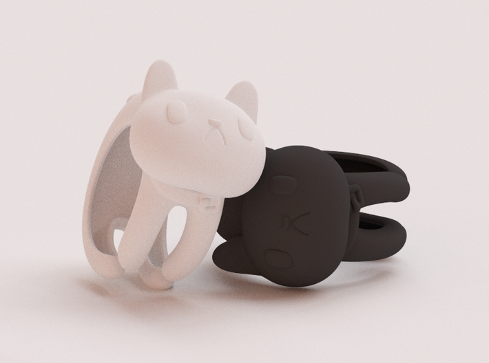 CatRing size 8 3d printed CGI not real product**