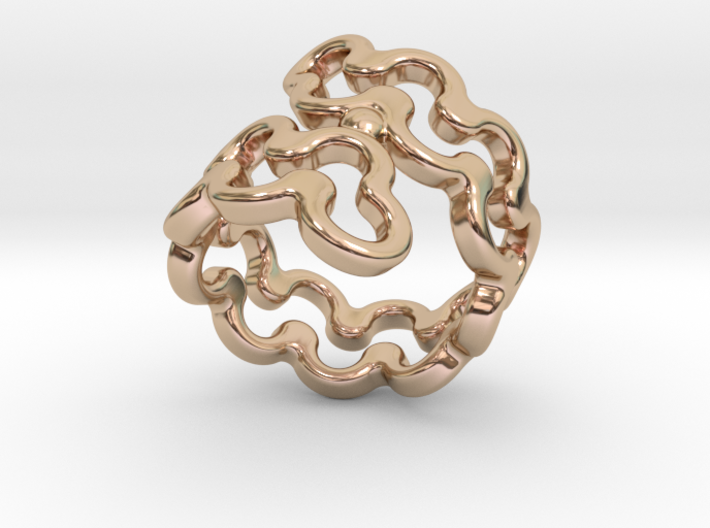 Jagged Ring 26 - Italian Size 26 3d printed