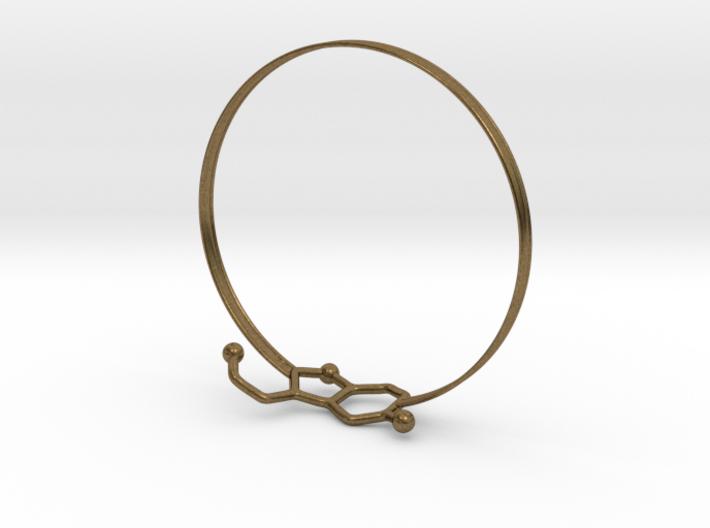 Serotonin Bracelet 65 Mm Embossed 3d printed