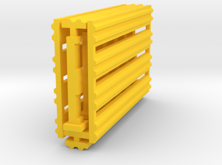 Double Rail Guardrail System 1-87 HO Scale 3d printed