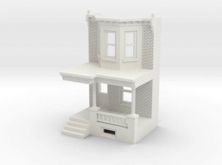 WEST PHILLY ROW HOME FRONT 160MIR 3d printed