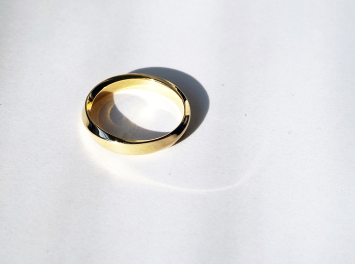 Mobius Narrow Ring I (Size 10) 3d printed