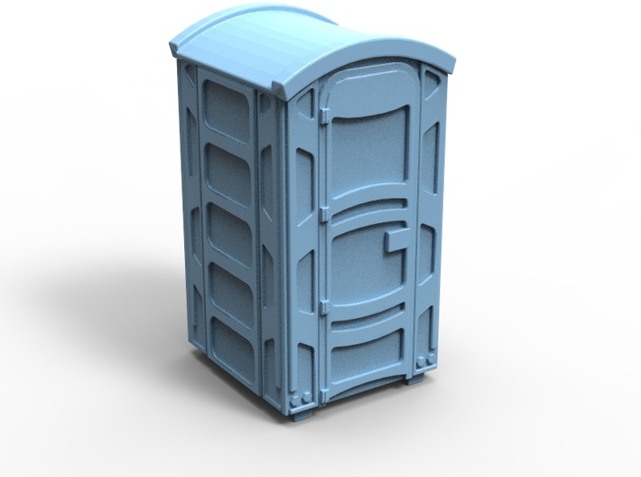 Portable Toilet 01. Z Scale (1:220) 3d printed