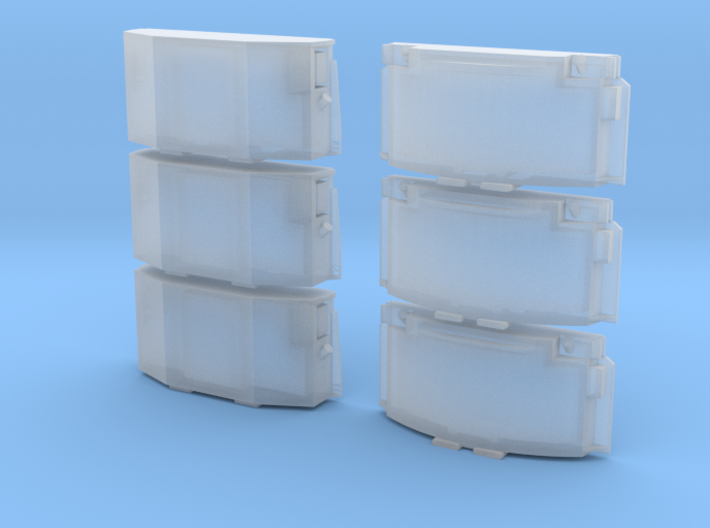 1:87 / H0 Clip-On Reefer Container Set1 3d printed