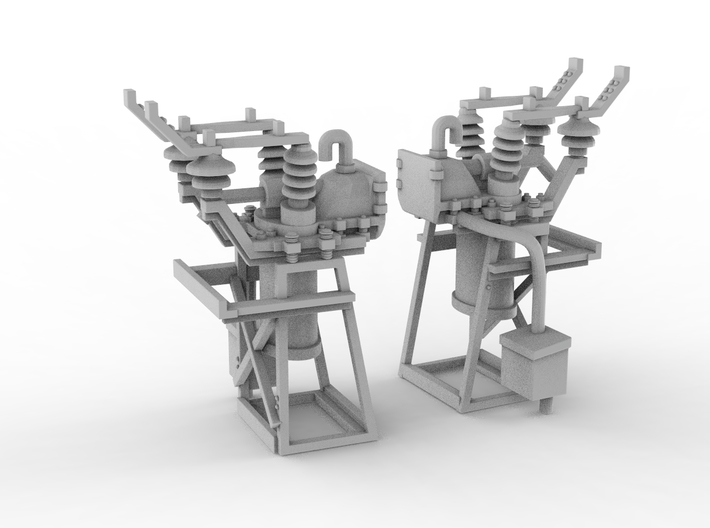 Catenary x20. HO Scale (1:87) 3d printed
