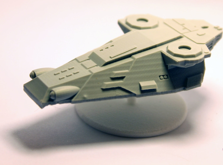 GEV, Grav Vehicles floating base 3d printed This light resin grav tank only required a washer for mounting, but for heavier models I use a second magnet for extra grip.
