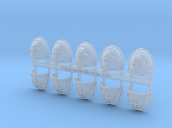 Iron knights - Gen3:Iron Shoulder x10 3d printed