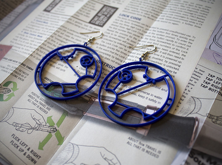 Tardis Earrings 3d printed