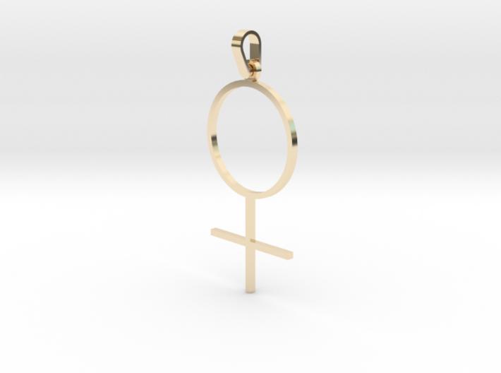 Female Sign Pendant 3d printed