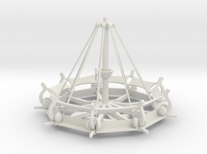Mittelalter Schwungradkarussell - 1:87 (H0 scale) 3d printed