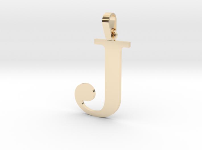 J Letter Pendant 3d printed