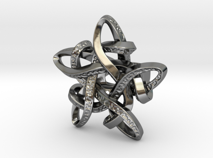 Celtic Star ring 3d printed