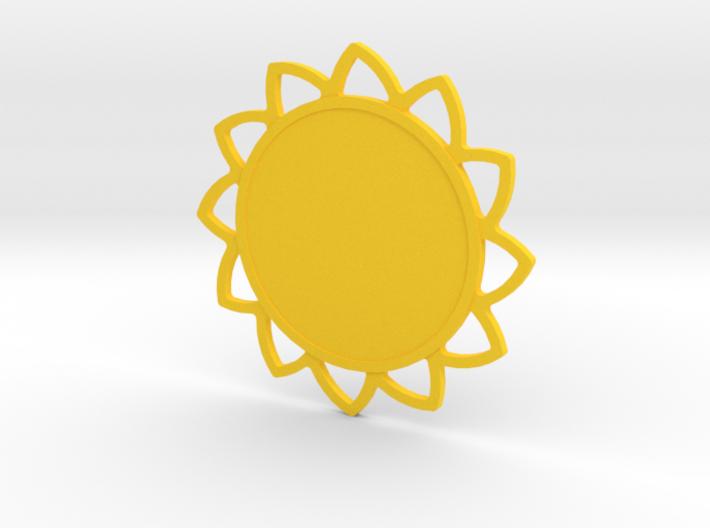 Custom Mandala Pendant Sunflower 3d printed