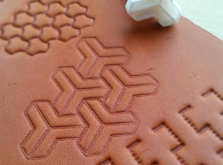 Leather Stamp 16 MC Escher Geometrical Pattern 3d Printed Esher Tool