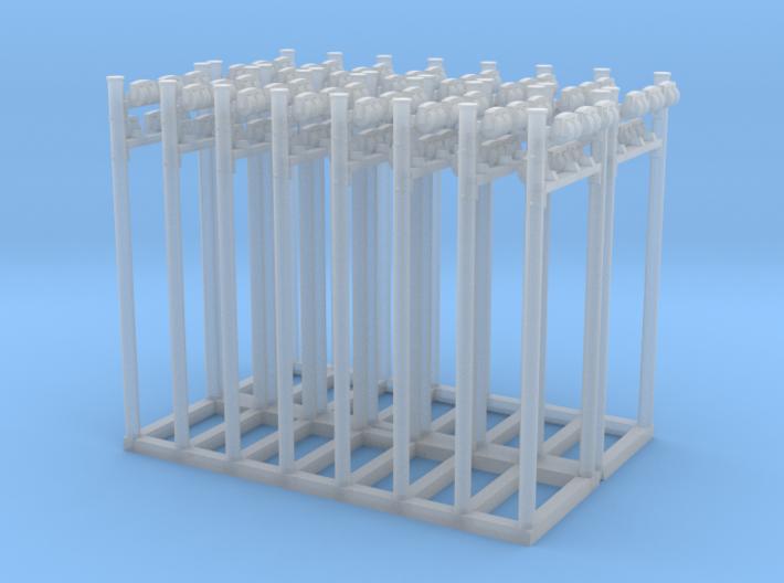Rollenständer Doppelt mit 6 Rollen 16 Stück 3d printed
