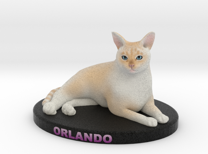 Custom Cat Figurine - Orlando 3d printed