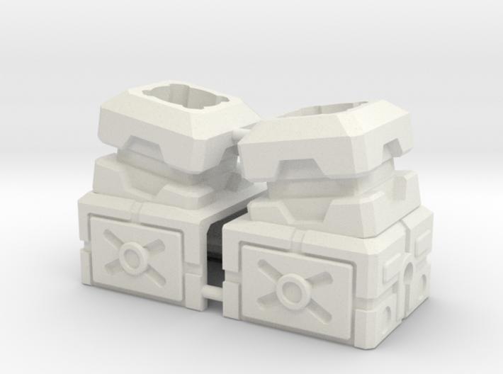 Combiner Port Extenders With Tilt 3d printed