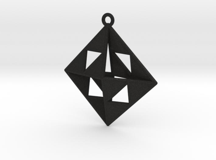 OCTAHEDRON Earring / Pendant Nº1 3d printed