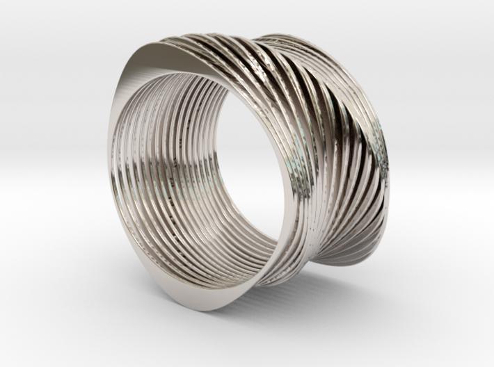 Experimental SLICE Bracelet 7.5 cm wide 3d printed