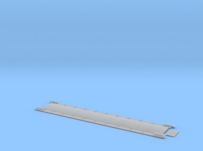 Gleiswaage Spur Null Stahlteil (Bauteil 1/2) 3d printed