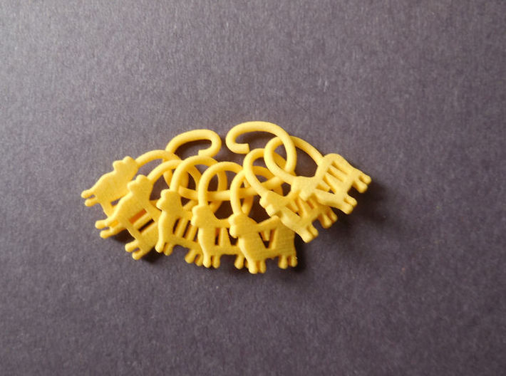 Counting Sheep Stitch Markers 3d printed