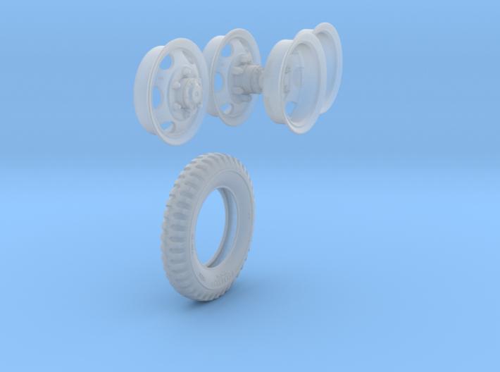 1-18 GMC Tire+Rims 750x20 3d printed