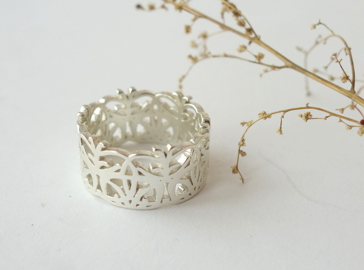 Circle Dance Lace Band - Size 7 3d printed