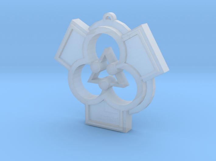 Architectural Pendant for a Patron of the Arts 3d printed